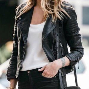 Topshop Faux Leather Moto Jacket